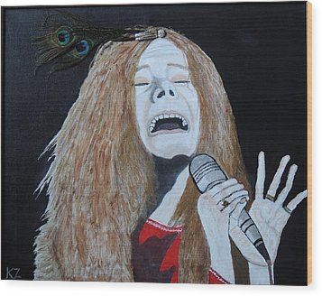 Piece Of My Heart. Janis. Wood Print by Ken Zabel