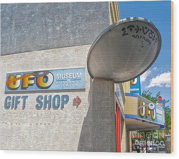 Roswell New Mexico Wood Print by Gregory Dyer