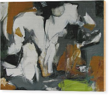 Wood Print featuring the painting Study by Fred Smilde