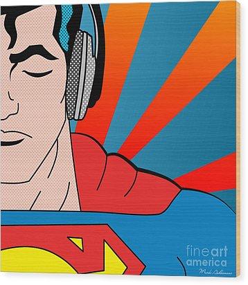Superman  Wood Print by Mark Ashkenazi