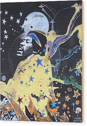 Trippin' With Jimi. Wood Print by Ken Zabel