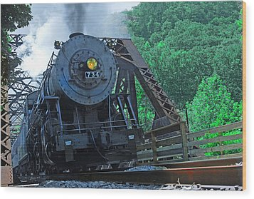 Wood Print featuring the photograph 734 by Mike Flynn
