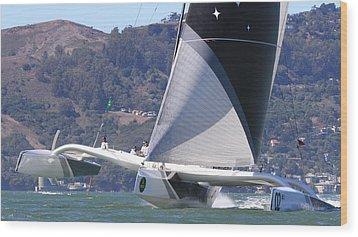 San Francisco Sailing Wood Print by Steven Lapkin
