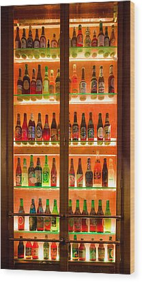 76 Bottles Of Beer Wood Print by Semmick Photo