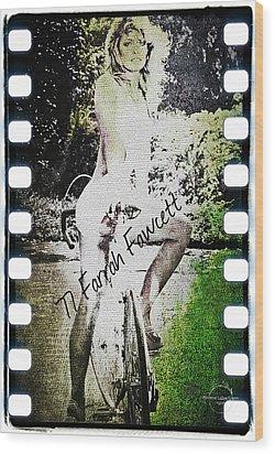 '77 Farrah Fawcett Wood Print