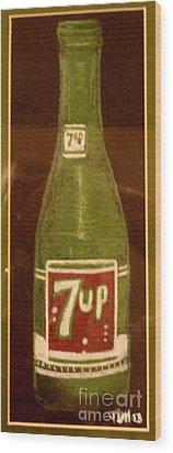 7up Bottle Wood Print by Joseph Hawkins