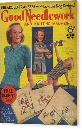 1930s Uk Good Needlework And Knitting Wood Print by The Advertising Archives