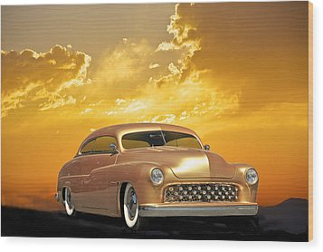 1950 Mercury Custom Wood Print by Dave Koontz