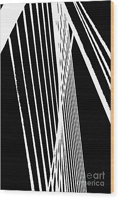 Abstract Wood Print by Rose Wang