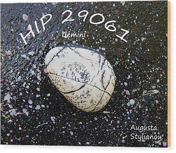 Barack Obama Star Wood Print by Augusta Stylianou