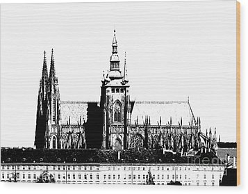 Cathedral Of St Vitus Wood Print