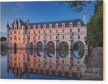 Chateau Chenonceau Wood Print by Brian Jannsen