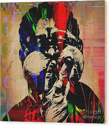 Dizzy Gillespie Collection Wood Print