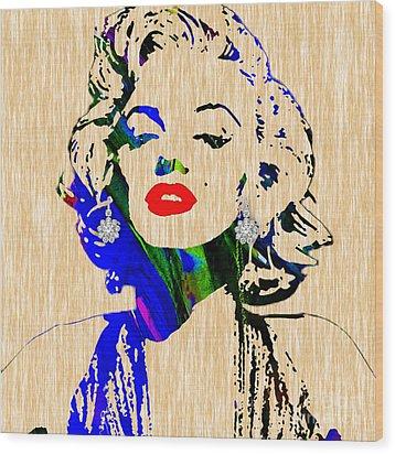 Marilyn Monroe Diamond Earring Collection Wood Print