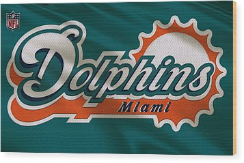 Miami Dolphins Uniform Wood Print