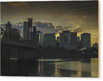 Portland Waterfront Wood Print