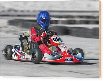 Racing Go Kart Wood Print