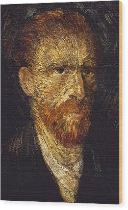 Self-portrait Wood Print by Vincent van Gogh