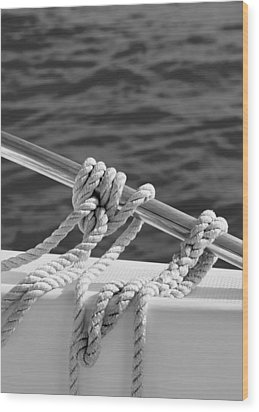 The Ropes Wood Print by Laura Fasulo