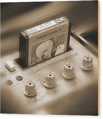 8-track Tape Player Wood Print by Mike McGlothlen
