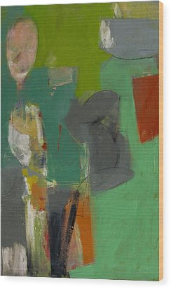 Wood Print featuring the painting Untitled by Fred Smilde