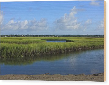 Wrightsville Beach Marsh Wood Print by Mountains to the Sea Photo