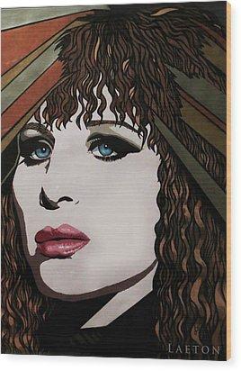 80's Barbra Wood Print