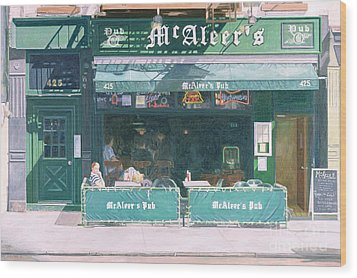 80th And Amsterdam Avenue Wood Print by Anthony Butera