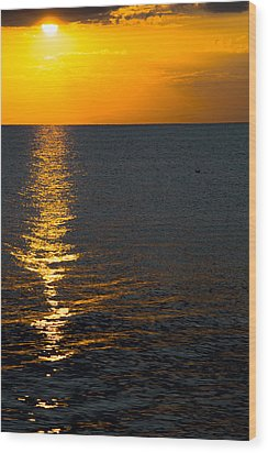 Wood Print featuring the photograph 8.16.13 Sunrise Over Lake Michigan North Of Chicago 003 by Michael  Bennett