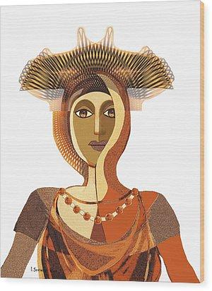 821 - Byzantine Princess Wood Print by Irmgard Schoendorf Welch