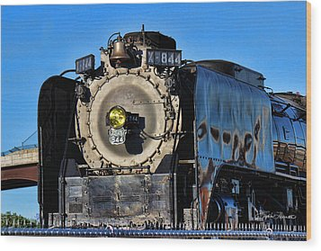 844 Locomotive Wood Print