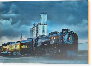 844 Night Train Wood Print