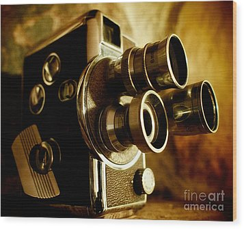 8mm Wood Print by Mark Miller