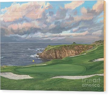 8th Hole Pebble Beach Wood Print