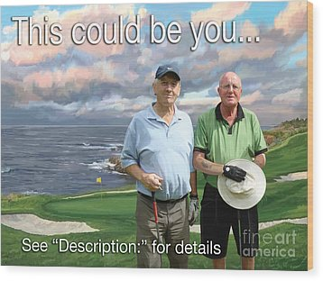 Wood Print featuring the painting 8th Hole Pebble Beach by Tim Gilliland