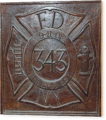 9 11 01 F D N Y 343 Wood Print