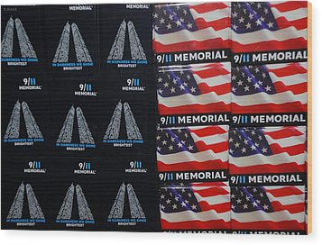 9/11 Memorial For Sale Wood Print by Rob Hans