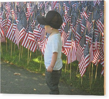 Wood Print featuring the photograph 9 /11s New Generation by Bruce Carpenter