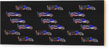 9 Audis And 9 Peugeots Wood Print by Asbjorn Lonvig