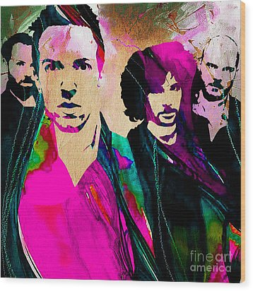 Coldplay Collection Wood Print