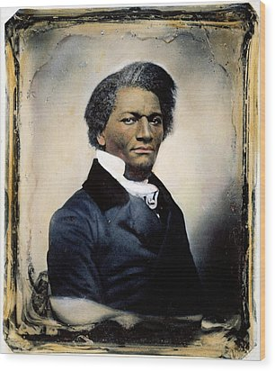 Frederick Douglass Wood Print by Granger