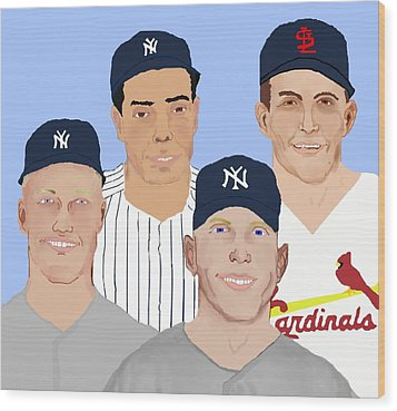 9-inning Legends Wood Print by Pharris Art