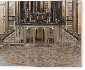 Interior Of St Georges Hall Liverpool Uk Wood Print by Ken Biggs