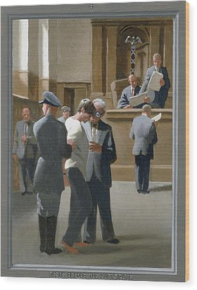 9. Jesus Before The Magistrate / From The Passion Of Christ - A Gay Vision Wood Print by Douglas Blanchard
