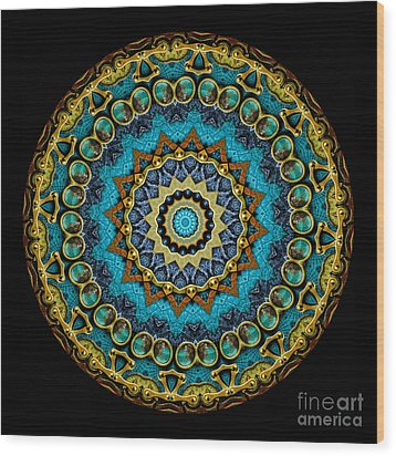 Kaleidoscope Steampunk Series Wood Print by Amy Cicconi