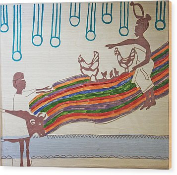 Kintu And Nambi Wood Print by Gloria Ssali