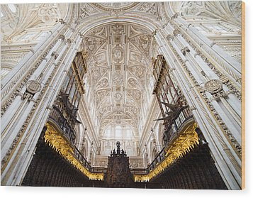 Mezquita Cathedral Interior In Cordoba Wood Print by Artur Bogacki