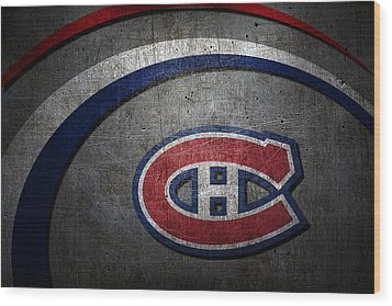 Montreal Canadiens Wood Print by Joe Hamilton