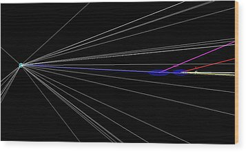 Proton Collision Wood Print by Science Photo Library