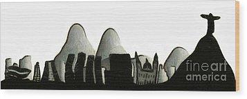 Rio De Janeiro Skyline Wood Print by Michal Boubin